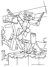 Beautiful Minecraft Coloring Pages 14 For Seasonal Colouring Pages