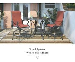 garden furniture table and chairs small space outdoor furniture garden furniture round table set