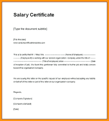 15 Salary Certificate Model Proposal Letter
