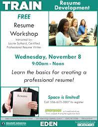 Eden Goodwill Resume Workshop Nov 8 2017