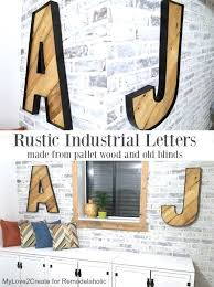 wall letter decor wall letters and word signs rustic industrial letters initials wall art for creative