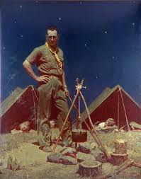 scoutmaster by norman rockwell