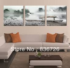 canvas painting chinese painting for living room wall home bedroom decoration 3 piece canvas wall art wall stickers wall decor