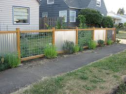 Delighful Sheet Metal Fence Corrugated But Inside Ideas