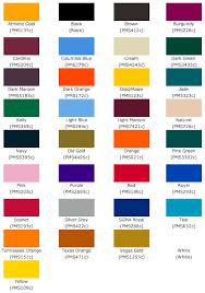 Pantone Sublimation Colour Chart In 2019 Pantone Pantone