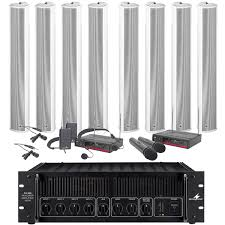 sound system for church. church sound system with 8 column speakers, 480w amplifier, mic \u0026 cable for