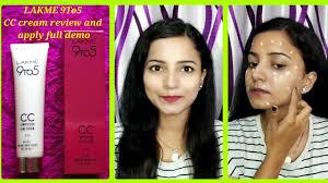 lakme 9to5 cc cream review full demo how to apply cc cream makeup hack glam hub