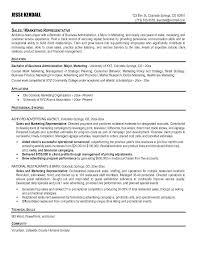 Examples Of A Sales Resume Sales Representative Free Resume Samples