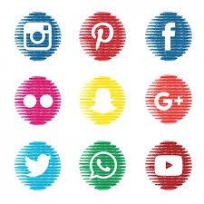 social media logos. textured social media icons free vector logos