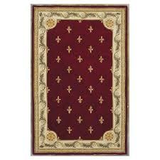 kas rugs antique fleur de lis red 9 ft x 12 ft