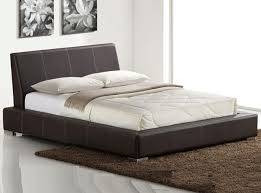 Modern Leather Platform Bed SPN 80