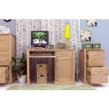 bonsoni mobel oak single pedestal computer desk bonsoni mobel oak hideaway
