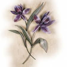 calla blooms porcelain flower wall art white iq with regard to purple flower metal wall