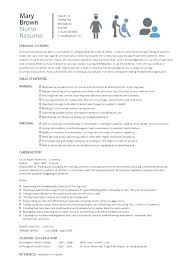 Nurse Resume Example Classy Nurse Resume Template Nursing Word It Cv Simple South Africa R