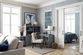 home office in living room. Home Office In Living Room From Pottery Barn With Cream Upholstered Chair E