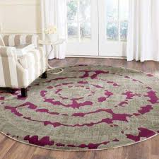 porcello light grey purple 7 ft x 7 ft round area rug