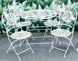 cast iron chair and table set vintage wrought iron table and chairs white patio furniture cast