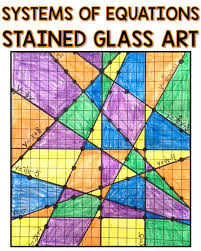 systems of equations graphing art
