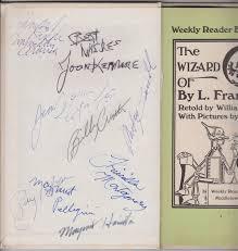 "The Wizard Of Oz"" Signed Book Margaret Hamilton Ray Bolger Meinhardt Raabe  Margaret Pellegrini Joan Kenmore Priscilla Montgomery Jerry Maren Billy  Curtis Mickey Carroll Munchkins Autograph ITEM SOLD"