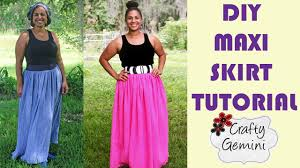 Plus Size Skirt Patterns New How To Make A Maxi Skirt DIY Tutorial NO ELASTIC Waistband YouTube