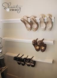 closet organization high heel shelves