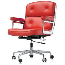 red leather office chair. Eames Executive Red Leather Office Chair Within R