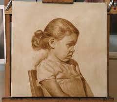 oil portrait tutorial step 2