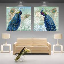 designer wall art peacock painting decoration modular animal print poster canvas pictures on the wall sitting room cuadros in paint by number from home  on number canvas wall art with designer wall art peacock painting decoration modular animal print