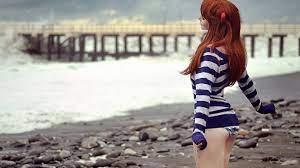 Cute Beach Girl Bikini HD Wallpaper ...