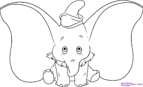 Dumbo The Elephant Coloring Pages Dumbo The Elephant Coloring