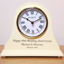 details about engraved 50th golden wedding anniversary mantel clock 50 years gold gift idea