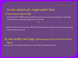 Ppt In Text And Works Cited Citations Powerpoint Presentation Id