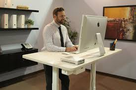 smartdesk world s first smart standing office that talks and listens you