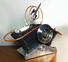 jugs table lamp made from recycled harley davidson parts chromesculpture