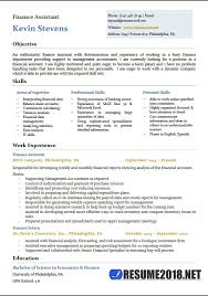 Resume Template Word 2018 Interesting Finance Assistant Resume Templates 28 28 Samples In Word