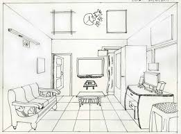 1 Point Perspective Bedroom Perspective Pencil And In Color Rhmozirucom Room  One Point By Artrelegis On