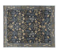 pottery barn adeline wool rug blue multi 4x6 authentic new hand tufted