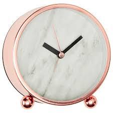 lisa t marble effect desk clock