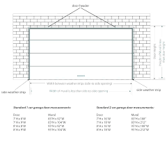 dimensions of two car garage standard garage door sizes two car dimensions intended for size decor