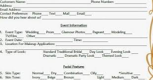 beauty consultation form template
