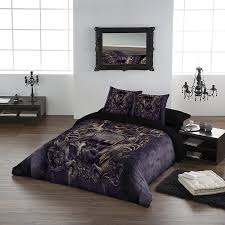labyrinth duvet pillowcase covers set for double from black and white gothic bedding source