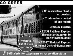 Rajdhani Not To Sport Reservation Charts The Hindu