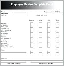 Yearly Employee Review Template Performance Appraisal Form Samples