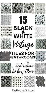 15 black and white stenciled and vintage tiles for a retro vintage or farmhouse style