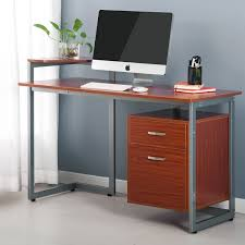 walnut office furniture. Amazon.com : Merax Stylish Computer Desk Home And Office Table Furniture With Drawer Printer Shelf, Walnut (Walnut) Products