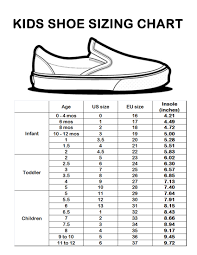 Little Kid Big Kid Shoe Size Chart 21 Unfolded Liquid Measurement Chart For Children