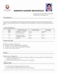 Sample Resume format for Mba Finance Freshers Inspirational Fresher Mba  Resume] What is the Best Resume for An Mba Fresher
