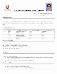 sample resume format for mba finance freshers inspirational