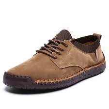 <b>IZZUMI Men Casual</b> Shoes <b>Outdoor</b> Low-top Handmade Leather ...
