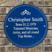 personalised herie plaque